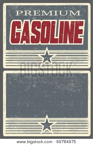 Premium Gasoline Poster