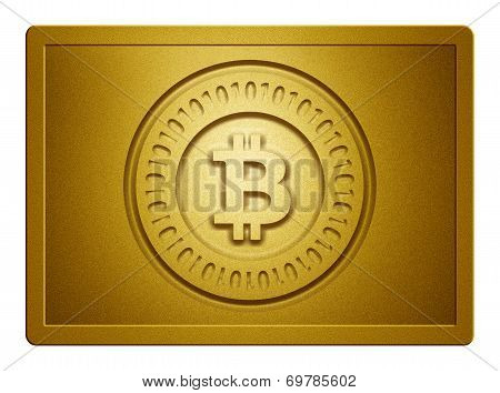 Golden Bitcoin Plate