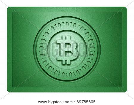 Green Metallic Bitcoin Plate