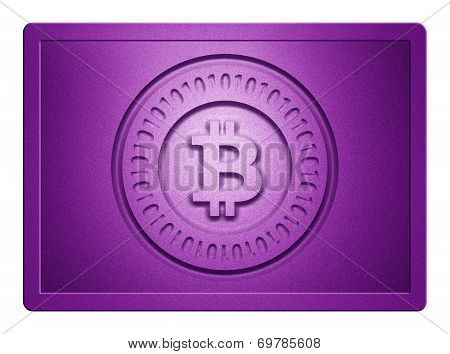 Purple Metallic Bitcoin Plate