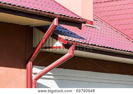 Rain Gutter For Collects Rainwater