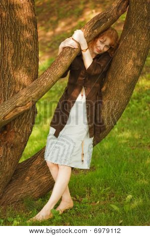 Girl And Trees