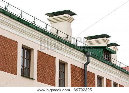New Gutter System On Historical House