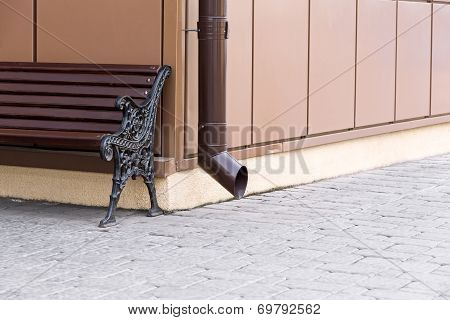 Drainpipe And Bench