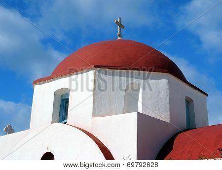 Greek Orthodox church in Mykonos, Greece