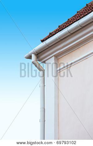 Gutter On House Corner