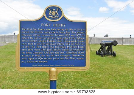 Fort Henry Sign, Ontario, Canada