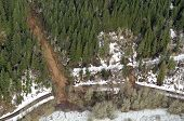 pic of snow-slide  - Mudslides scar the hillsides of Washington state following heavy rain on top of snow - JPG