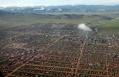 pic of ulaanbaatar  - The sweeping remote hills of Mongolia are marked only by primitive roads and clusters of simple cabins - JPG
