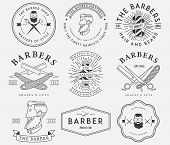 stock photo of barber razor  - Vector badges and crests for any use - JPG