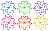 foto of six-petaled  - Illustration of the floral patterns on a white background - JPG