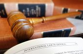 picture of law-books  - Law books with legal gavel and open page - JPG