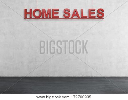 Red Home Sales Text