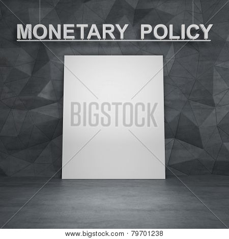 Poster And Monetary Policy