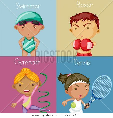 Illustration of different kind of sports