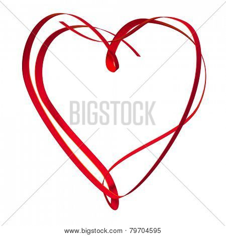 An image of a nice heart shape ribbon