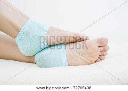Foot Care On White Background