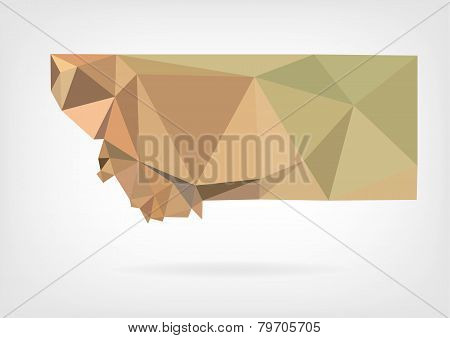 Low Poly map of Montana state