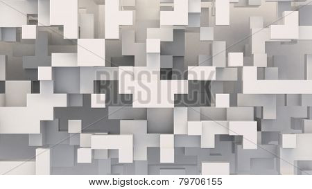 white abstract background from cubes