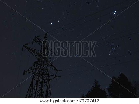 Transmission tower.