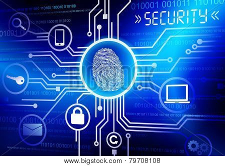 Concept of security in cloud computing format vector