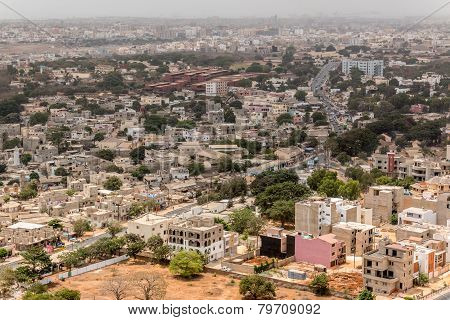 Aerial View Of Dakar