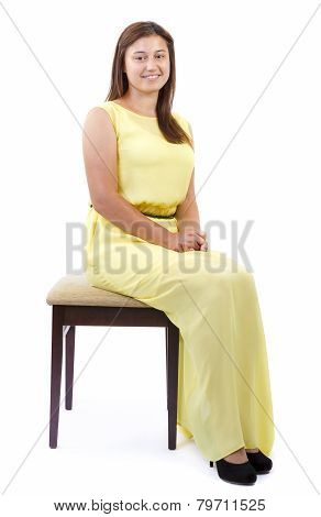 Teenager Girl Sitting on Chair