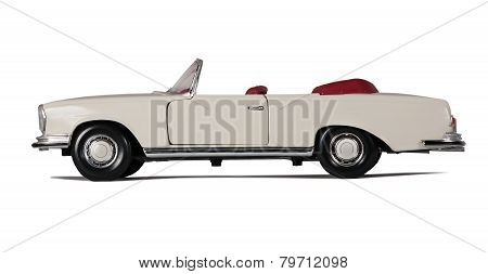 Vintage White Car Cabriolet