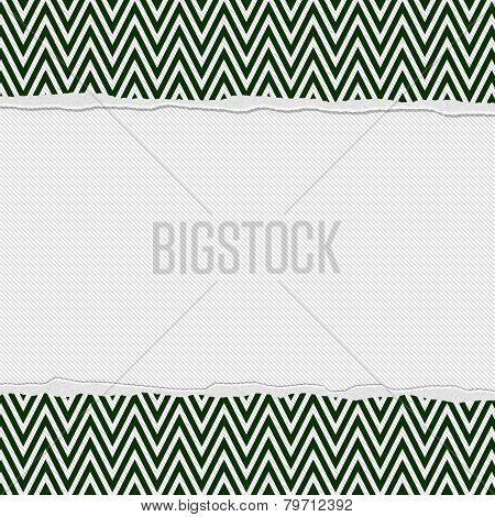 Green And White Torn Chevron Frame Background
