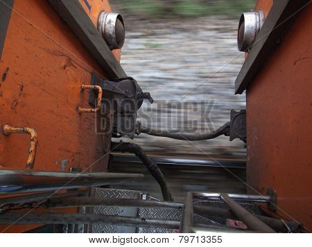 railway from running train
