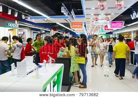 SHENZHEN - NOV 02: shopping store in ShenZhen on November 02, 2014 in Shenzhen, China. ShenZhen is regarded as one of the most successful Special Economic Zones.