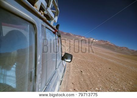 Offroad Driving In Desert
