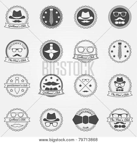 Gentlemen's club vector emblems and logos