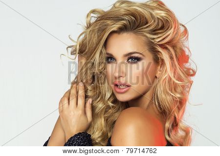 Beauty Portrait Of Blonde Woman.