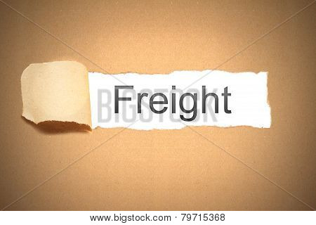 Brown Paper Torn To Reveal Freight