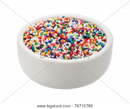 Sprinkles Nonpareils In A Bowl
