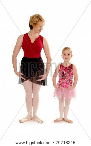 First Position Ballet Dance Student Lesson