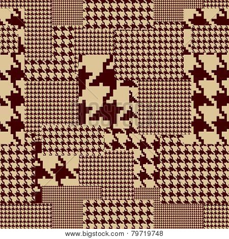 Brown houndstooth.