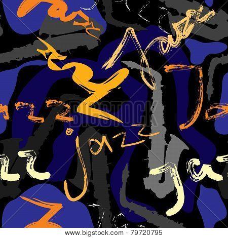 Music jazz pattern