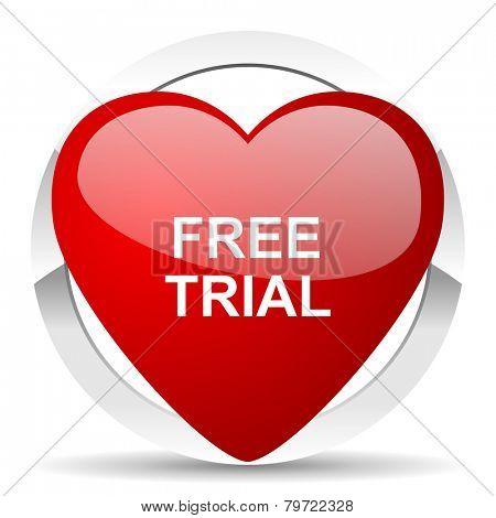 free trial valentine icon