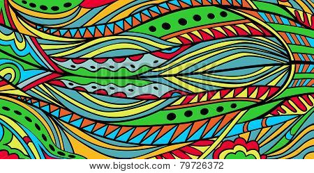 Abstract Bright Ethnic Background