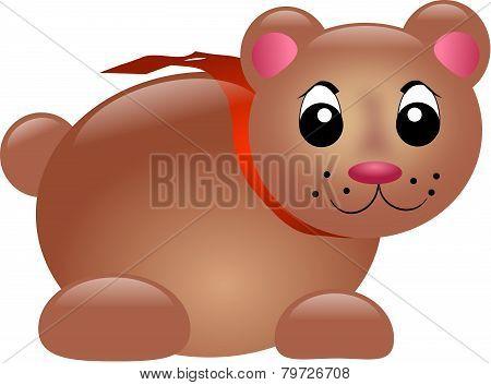 Chubby Brown Bear