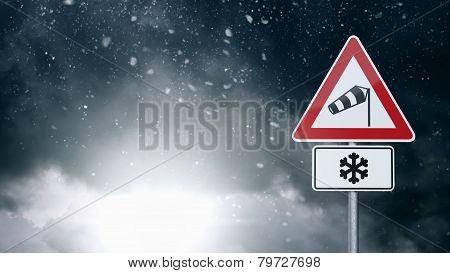 Bad Weather - Caution - Risk of Storm and Heavy Snow