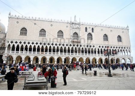 Palazzo Ducale On San Marco Square In Venice