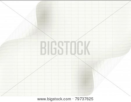Curved Sheet Of Paper On Both Sides