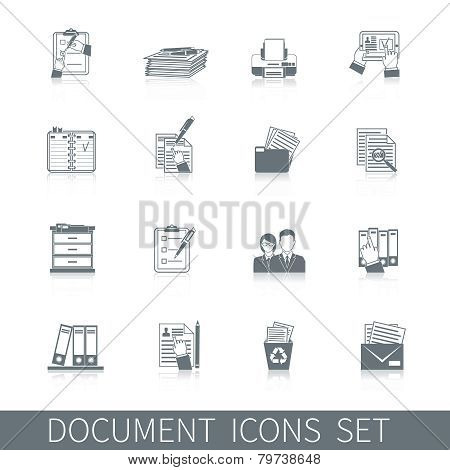 Document Icons Black