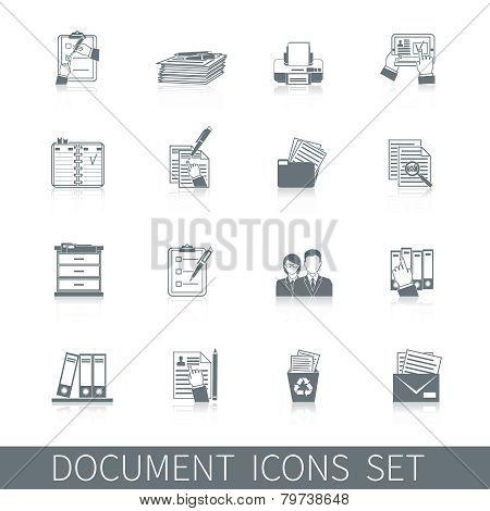 Document Icons Black