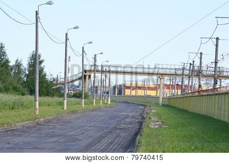 Street In The Industrial Outskirts Of St. Petersburg