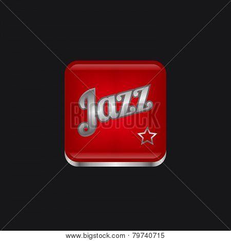 jazz music genre button