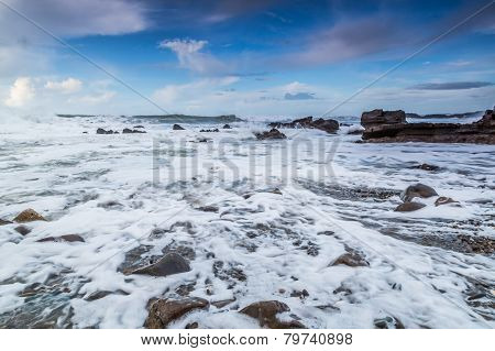 Bude beach and harbour